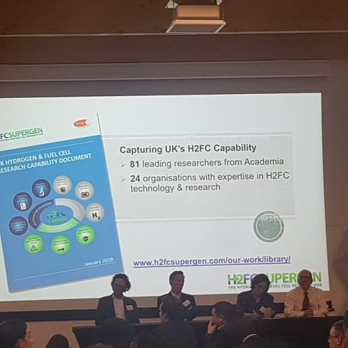 RCCS Research Associate at H2FC SUPERGEN 2019 Conference: A vision for hydrogen and fuel cells in the UK